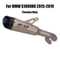 En alliage de titane tuyau d'échappement échappement Moyen lien tuyau de raccordement Tube Fin Conseils Silencieux Pour S1000XR 2020-2020 Motorcycle
