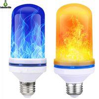 중력 센서 4W E27 불꽃 효과 LED 전구 깜박임 화재 LED 전구 조명 램프 4 모드 파티 마당 할로윈 크리스마스 장식 조명