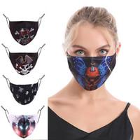 Halloween-Dekorationen Masque Designer Gesichtsmasken luxe Sequin Mädchen Frauen grelle bohrende Baumwolle Mädchen erwachsen Tuch Maske schwarz mascarilla HHD1585