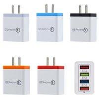 4 USB Hızlı telefonu şarj 5V 3A çok portlu seyahat şarj cihazı fişi Hızlı Şarj Mobil iphone 11 pro max samsung HTC için