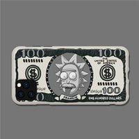 الكرتون الأمريكي ريك مورتي الدولار فرك غطاء لفون برو 11 7 8 7plus 8plus زائد X إكسس ماكس XR لينة منتديات حالة الهاتف