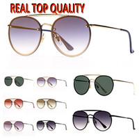 Womens Runde Sonnenbrille Mode Herren Sonnenbrille Blaze Sun Gläser Eyeware des Lunettes de Soleil für Mode Damen Zubehör