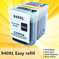 4PK para 940XL 940 940 C4906A C4907A C4908A C4909A Para Officejet Pro 8000 8500 Impresora chip de tinta cartucho de tinta reajustable