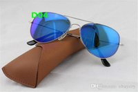 5pcs High quality Fashion Mirror Men Women Polit Flash Sunglasses UV400 Vintage Sport Sun glasses 58mm With box and Case