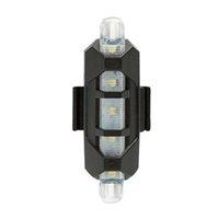 Luzes de bicicleta Luz branca Luz recarregável USB LED Taillight MTB Aviso Bicicleta Frente Lâmpada Traseira Flash