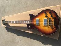 عرف الصانع 4 سلاسل ليرة لبنانية باس الغيتار الكهربائي، والأجهزة الكروم أعلى جودة LP الغيتار باس، وحرية الملاحة