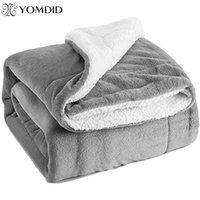 YOMDID фланель Одеяло двухслойных Толстые Sherpa Throw Одеяло для зимы мягкая диван кровать Couch Frazadas Мантас De Cama Cobertor