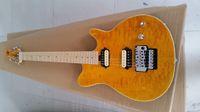 Özel Edward Van Halen Kurt Music Man Ernie Topu Eksen Sarı Qulited Maple Top Elektro Gitar Akçaağaç Boyun Floyd Rose Tremolo Köprü