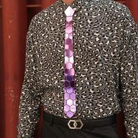 고급스러운 퍼플 미러 넥타이 디자이너 브랜드 패션 액세서리 결혼 선물 남성 스키니 매화 넥타이 럭셔리 세련된 커프스 타이 세트