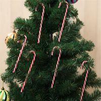 Hot Início festiva dos doces Muleta Decoração da árvore de Natal de suspensão brinquedos Xmas Party Pingentes Ornamentos Para Ano Novo Home Decor crianças