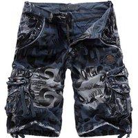 Denim Shorts Plus Size Man Short Jeans No Belt Men Jean Shorts Summer Camouflage Knee Length Casual Work