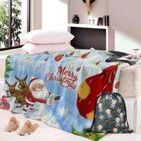 خمر عيد الميلاد لينة الصوف رمي غطاء لينة الفانيلا غطاء لفي لأريكة / سرير / ا البطاطين السيارة المحمولة