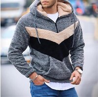 Mens Designer Clothing Casual Loose Hooded with Zipper Fly Mens Tops Plush Winter Fashion Panelled Hoodies