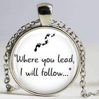 Кулон ожерелья Гилмор Девушки «Где вы ведете ...» Ожерелье ручной работы длинные подвески