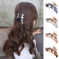 Koreanische Frauen-Perlen-Haar-Clip Banana Barettes Kristallrhinestone-Haar-Greifer Crab Hairpin-Haar-Zusätze Harz Banana Clips