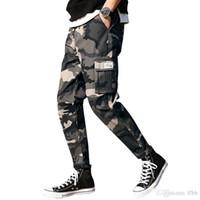 2019 New Mens Joggers Pants Spring Camo Cargo Pants Men Jogger Harem Camouflage Streetwear Poets Trousers Men 7XL115