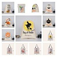 Sıcak Cadılar Bayramı Şeker Çanta çanta Tuval çanta kabak parti Hediye Paketi İpli Çanta Dekorasyon 50pcs Parti SuppliesT2I51502