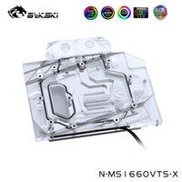 Ventilateurs de refroidissement BYKSKI Bloc de refroidissement par eau pour MSI GeForce GTX1660 VENTUS XS C 6G OC V1, Contrôle du réseau principal, N-MS1660VTS-X