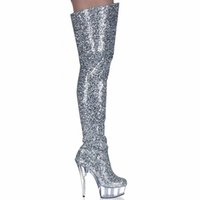 Stivali Scarpe da donna Tacchi alti Thigh Fashion Glitter Over Knee Fenty Beauty Gothic Ladies Nightclub