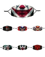 fashion Halloween  mask reusable cotton Clown Adjustable fac...