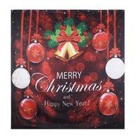 Duche cortinas vermelhas de Natal Banho antiderrapante Toilet Tampa Tapete Detalhes