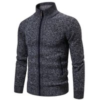 Men's Sweaters 2021 Autumn Sweater Casual Long Sleeves Thickening Plus Size Velvet Warm Trend Shirt Jacket Coat Drop Ship 3XL