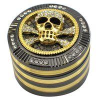 52 millimetri diamante smerigliatrice Animal Design Motivo ornamentale Tabacco Spice Muller Crusher Grinder 4 strati metallici Grinders fumatori da GGA3716 mare