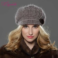 LILIYABAIHE NEW Style Women Winter hat brim hat knitted wool...
