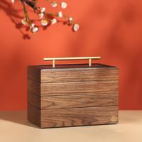 2020 Новые роскошные Большие деревянная шкатулка Organizer 4 слоя ювелирных изделий хранения Case Ларец Серьга Кольцо Колье шкатулки T200917
