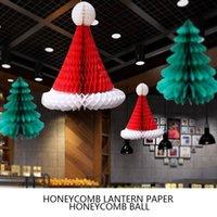 cappello a nido d'ape di Natale albero di Natale di carta decorazione floreale