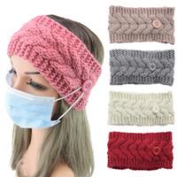 Maschera fascia con tasto dell'orecchio di protezione delle donne di ginnastica Sport Yoga Hairband Hairlace Copricapo inverno caldo Knit Accessori per capelli