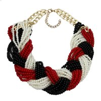Chaokers Uken Accessoires de mode fabriqué à la main Bib Collier bijoux imitation imitation perle Perles Chaînes Femmes déclaration Collier de cou