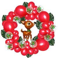 Ballon-Dekoration mit Weihnachts Luftballons Weihnachtskranz Ballon Kette Set Schildkröte Blatt Sequin Weihnachten Ballon