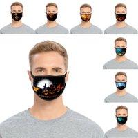 Хэллоуин дизайнер для взрослых ребенк маска благодарения тыква сериал ушной крючок хлопчатобумажный дышащий пылезащитный и моющиеся маски