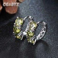 Kleine Nizza-Band-Ohrringe für Frauen CZ Farbe Grün Stein Vintage-Schmuck-Ohrring für Partei Braut Hochzeit Aretes E048