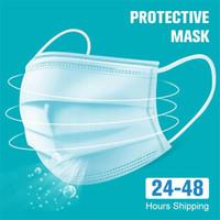 Одноразовая Non ткала трехслойную слойного фильтр маски рот маски для лица дышащего Earloops Маска США Stock FSAT корабль