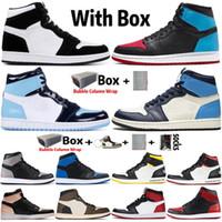 2021 с коробкой jumpman 1 1S Twist unc для чикаго мужская баскетбольная обувь повезло зеленый обсидиан Трэвис Скоттс женский кроссовки кроссовки размером 36-47