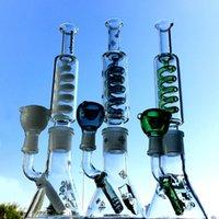 L'alta qualità di vetro dell'acqua Bong 14 millimetri comune 1Inch condensatore Coil Oil Rigs Freezable Diffusa Downstem Beaker Cera Dab Penna costruire un Bong