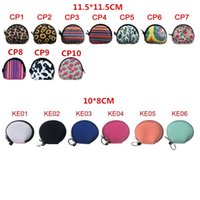Neoprene Waterproof Zipped Coin Pouch Mask Holder Earbud Case with Keyring Earphone Pouch for Kids BWF1903