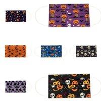Halloween Crianças Máscara Três camadas de pano Estudante Máscara Não-tecidos máscara de tecido de proteção Mouth For Kids Adulto HH9-3307