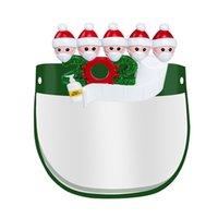 Etats-Unis 2020 Bateau Masque de protection Distance de Noël social avec des lunettes Holder Anti Splash Père Noël HD Bouclier visage transparent pour Xmas Party
