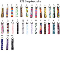 네오프렌 팔찌 바지의 시계 주머니 키 체인 배드민턴 가방 열쇠 고리 홀더 다채로운 인쇄 된 손목 주요 벨트 해바라기 스트랩 레오파드 매는 밧줄 열쇠 고리 애