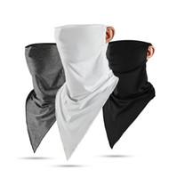 Medio diseñador de la mascarilla del pañuelo de seda del hielo de la piel fresca y transpirable Protección UV Deportes Headwear bicicletas magia diadema bufanda careta HHC2053