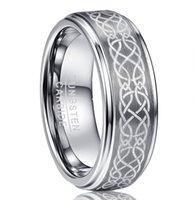 NUncad Марка вольфрама Оригинальный шаблон кольцо 8мм шириной 2,3 мм толщиной карбида вольфрама кольца США размер 6-14