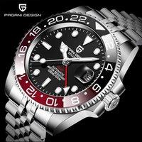 Montre-bracelet Pagani Design Top Marque Sapphire GMT Montre En Acier Inoxydable Hommes Automatic Terrain Sports Mécanique 40mm PD-1662