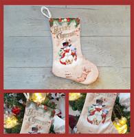 30 * 20 CM 2020 рождественские чулки подарочные пакеты Креативность Санта-Клаус Elk чулка Xmas Tree Декоративные рождественские носки мешок DHL Бесплатная доставка