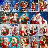 AZQSD diamante de la Navidad Pintura de Santa Claus Encuadre de bordado diamante de la venta de Arte Cruz invierno puntada diamantes de imitación Decoración para el Hogar
