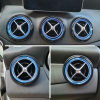 Mercedes-Benz GLA-SINIF X156 CLA C117 Araba Alüminyum Aksesuarları Hava Havalandırma Daire Kapak Trim Çerçeve Sticker İç Dekorasyon