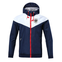2020 Angers SCO camisola Hoodie Men Jacket Brasão manga comprida com logotipo Autumn Sports Zipper Windcheater Designer Mens Clothe