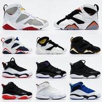 2020 New Kids Jumpman 7 Кроссовки детские Мальчики Детские Малыш 7S Баскетбол обувь 6 Колец Спортивный Спортивная обувь Размер 28-35